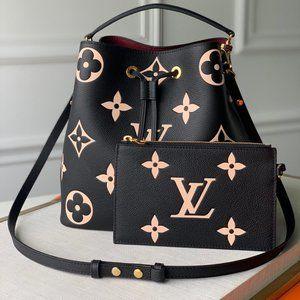New LV  Neonoe MM Black/Beige Bag
